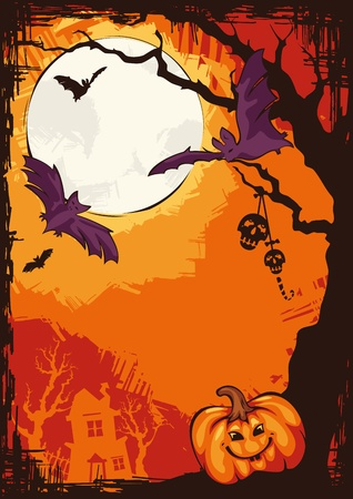 abstract autumn cartoon Halloween background illustration Vector