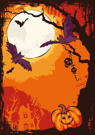 abstract autumn cartoon Halloween background illustration