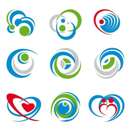 integrer: ensemble de symboles diff�rents isol� sur blanc