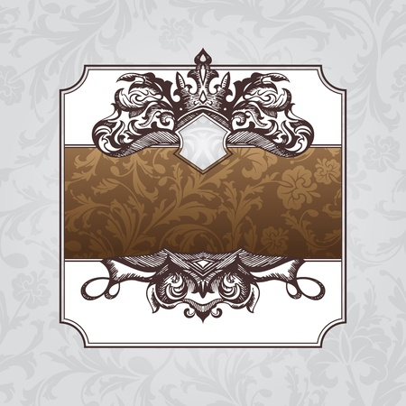 abstract royal ornate vintage frame illustration Vector