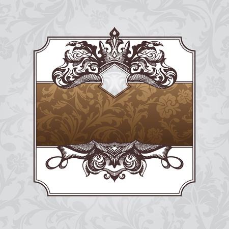 abstract royal ornate vintage frame illustration Vector