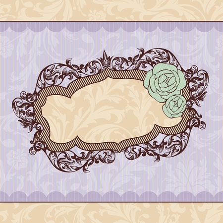 abstract royal ornate vintage frame vector illustration Stock Vector - 10533924