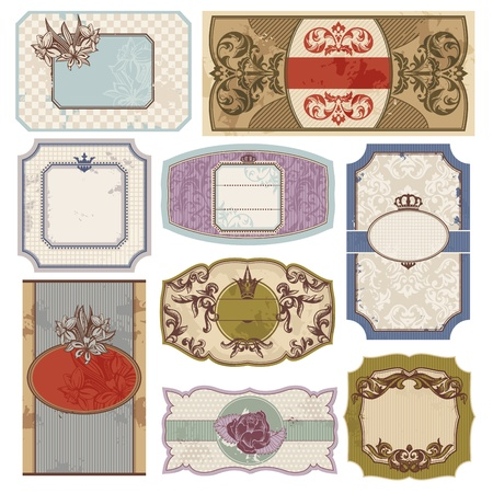 set of retro vintage labels vector illustration