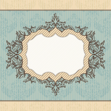 royal invitation: abstract retro royal vintage frame vector illustration Illustration