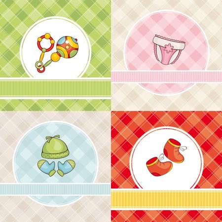 abstrakte Menge von cute Vektor Baby karten
