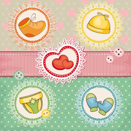 abstract cute lovely baby vector illustration card Vector