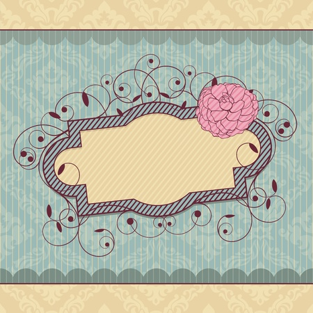 abstract royal ornate vintage frame vector illustration Stock Vector - 10640417