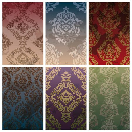 set of abstract vector seamless vintage background Stock Vector - 10640419