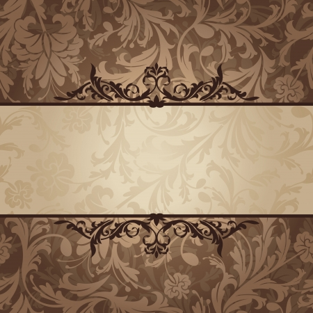 abstract retro vintage floral frame. Vector