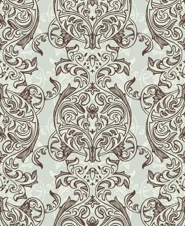 추상 레트로 원활한 꽃 패턴 그림