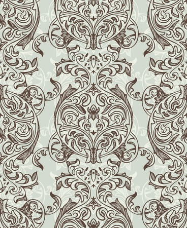 abstract retro seamless floral pattern illustration Vector
