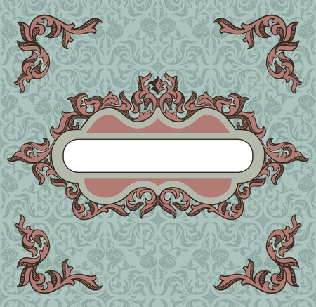 abstract retro vintage floral frame  Stock Vector - 10846877