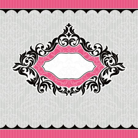 abstract retro vintage floral frame vector illustration Vector