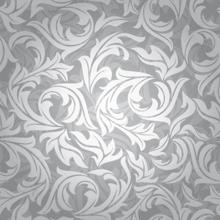 Résumé illustration parfaite fond argenté floral