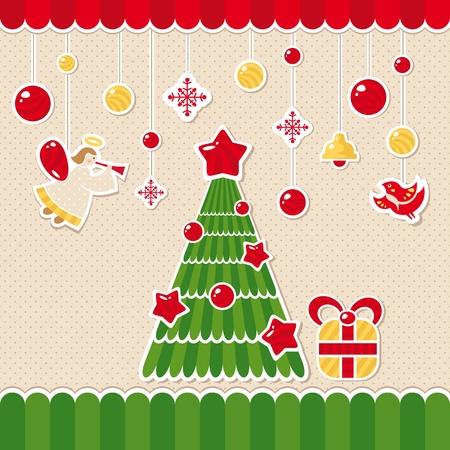 abstract christmas lovely cute card vector illustration Stock Vector - 11403256