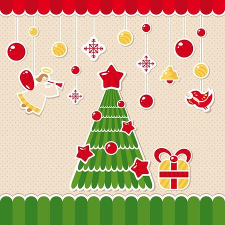 angeles bebe: resumen de navidad hermosa ejemplo lindo vector de la tarjeta