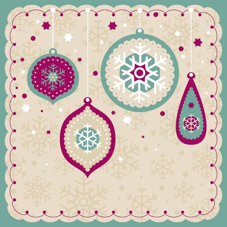 abstract christmas lovely cute card vector illustration Vector