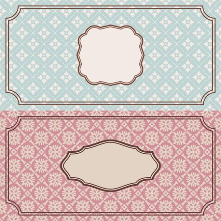 abstract cute floral retro frames vector illustration Vector
