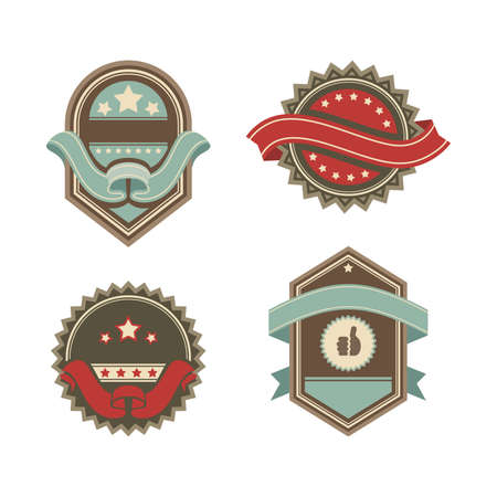 vintage premium and quality guarantee label vector illustration Stock Vector - 12845941