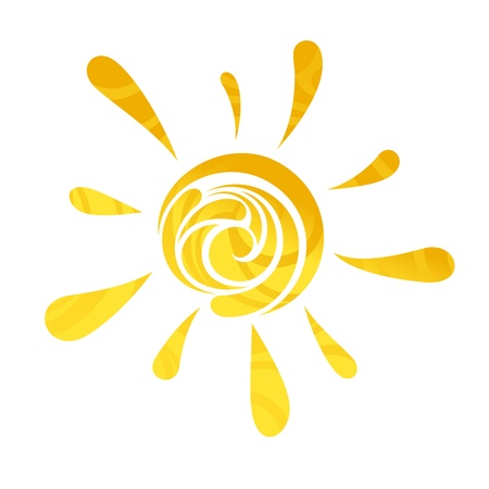 abstract modern cute lovely sun vector illustration