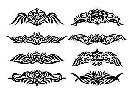 set of design vintage elements illustration Stock Vector - 13031057