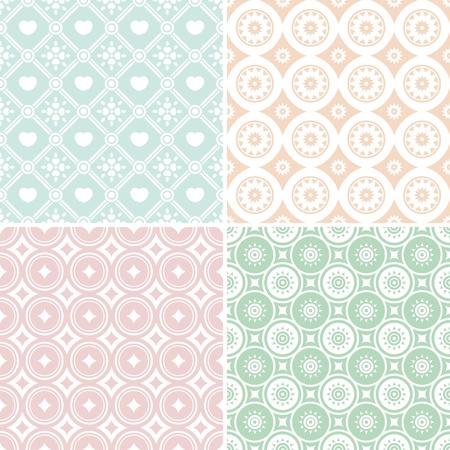 set of abstract seamless pattern illustration Vector