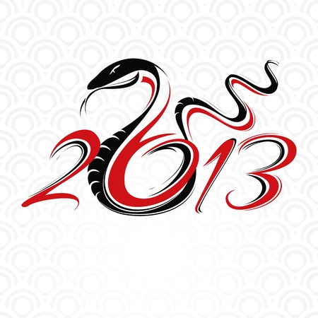 new year card with snake vector illustration Illustration