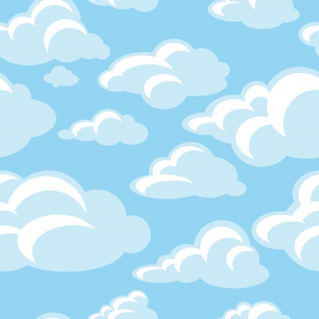 clouds cartoon: abstract decorative seamless pattern background vector illustration