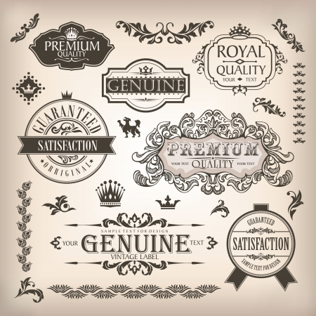 vector set of design elements and page decoration Illustration