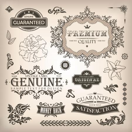 page decoration: vector set van design elementen en pagina decoratie