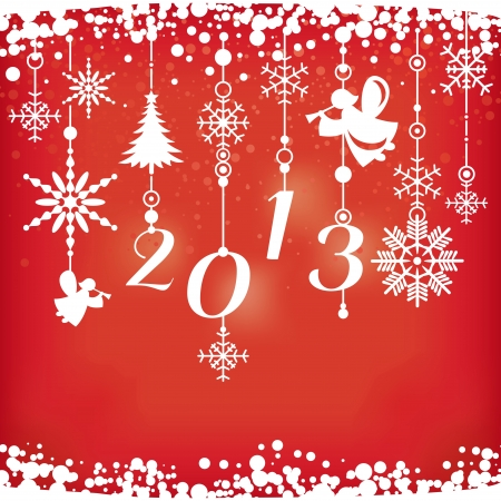 new year card vector illustration Vector