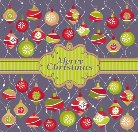 abstract christmas card vector illustration Vector