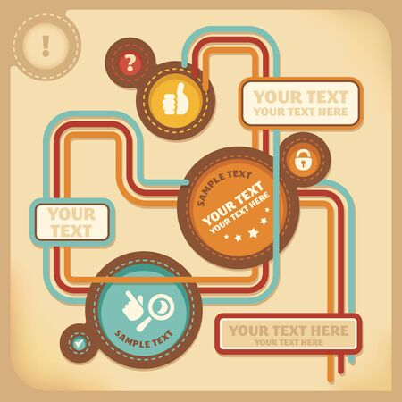 web design template in retro style vector illustration Vector