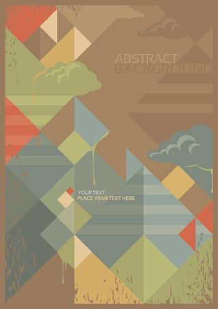 art blog: abstract background in retro style Illustration