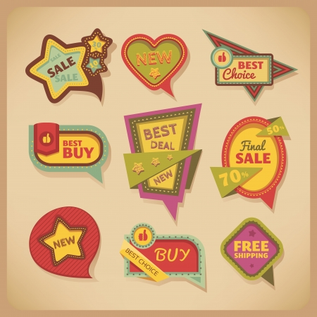 set of vintage frames and labels Stock Vector - 15540050