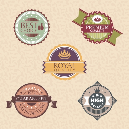 set of vintage labels and badges Stock Vector - 15540051