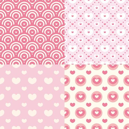 set of cute seamless patterns vector illustration Vector