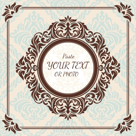 abstract retro vintage floral frame vector illustration Stock Vector - 18138135