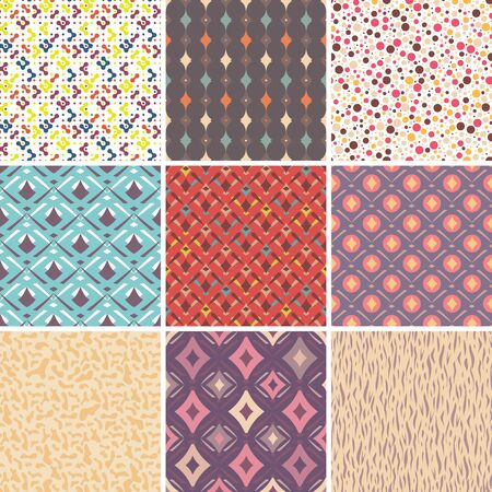 Abstract vector seamless patterns  Great for web page background  Vector