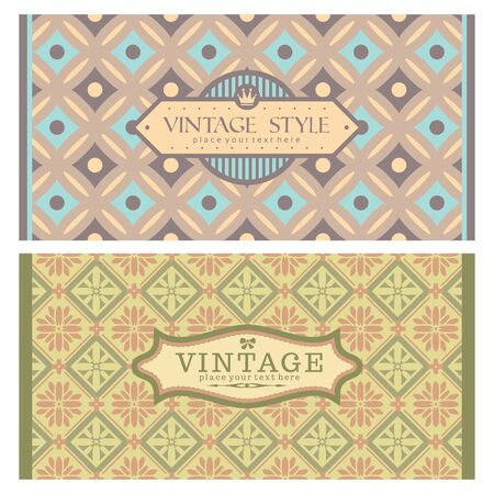 Frames in retro style  Great for invitations and greeting cards Stock Vector - 18512631