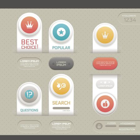 Modern infographic template. Can be used for infographics, web design, workflow layout, diagram, etc. Vector
