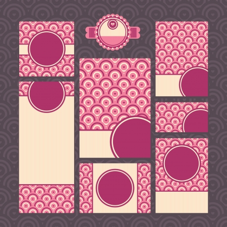 set of modern wedding cards vector illustration Stock Vector - 21616799