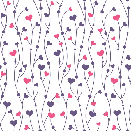 Abstract geometric colorful seamless pattern background with hearts Illustration