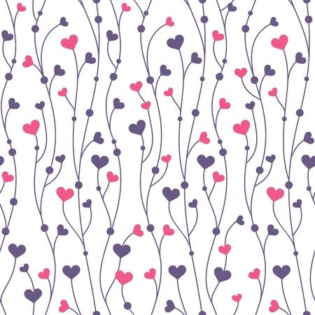 ferraille: R�sum� g�om�trique color� seamless avec des coeurs