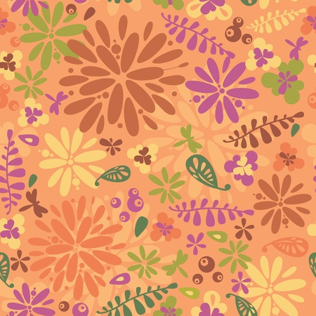 Abstract floral colorful vintage seamless pattern background vector illustration Stock Vector - 21616809