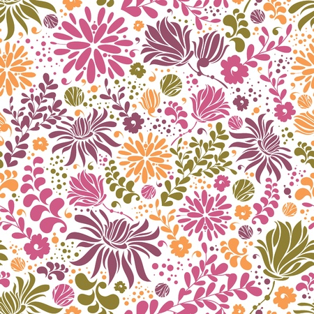 Abstract floral colorful seamless pattern background vector illustration Vector