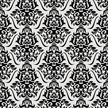 抽象花柄シームレスな背景ベクトル イラスト