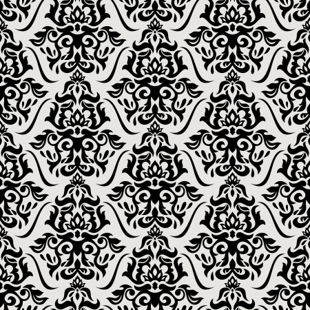 Abstract floral seamless pattern background vector illustration Çizim