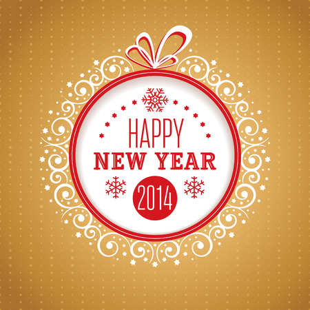 New Year ornate greeting card vector illustration Vector