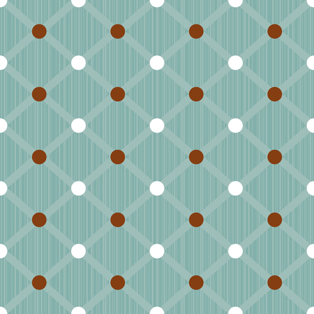 Seamless dots pattern background. Great for textile or web page background. Vector